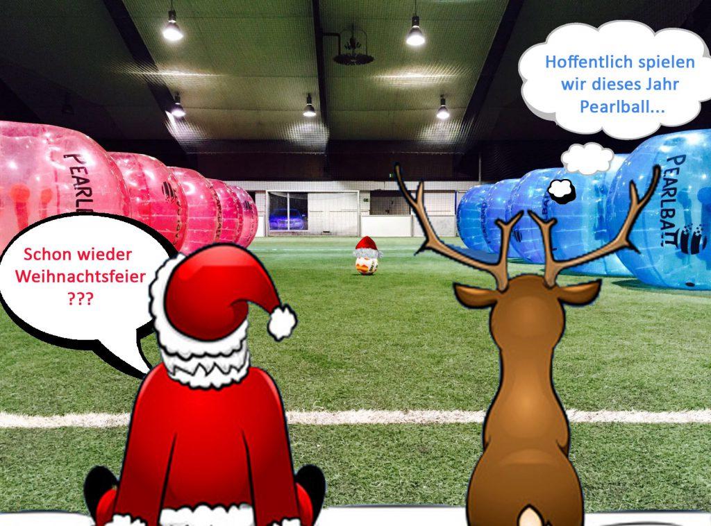 Weihnachtsfeier Cartoon.Weihnachtsfeier In Leipzig Mit Pearlball Bubble Soccer In Sachsen